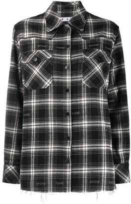 Off-White Check Boxy Shirt Black No Color