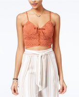 American Rag Crochet Bralette Crop Top, Created for Macy's