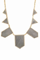 House Of Harlow Two-Tone Engraved Five Stations Necklace in Gray