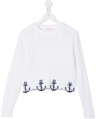 Familiar Anchor Hem Sweater