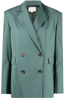 LOULOU STUDIO Double-Breasted Wool Blazer