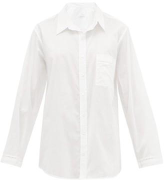 POUR LES FEMMES Crochet-insert Cotton-voile Nightshirt - White