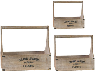 A&B Home Set Of 3 Grand Jardin Toolbox Planters