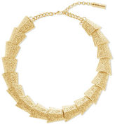 Steve Madden Textured Graduated Geo-Shape Necklace