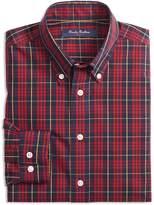 Brooks Brothers Boys' Holiday Plaid Sport Shirt