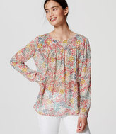 LOFT Wildflower Piped Blouse