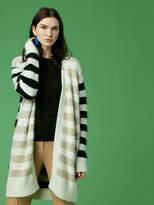Diane von Furstenberg Long-Sleeve Striped Cardigan