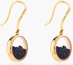 Aurelie Bidermann Fine Jewellery - Chivor Sapphire & 18kt Gold Earrings - Womens - Blue