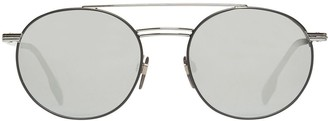 Burberry Top Bar Detail Round Frame Sunglasses