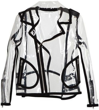 Wanda Nylon Biker Johnny Transparent Jacket