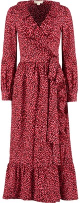 MICHAEL Michael Kors Petal Crepe Ruffled Wrap Dress