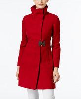 Via Spiga Petite Asymmetrical Buckled Walker Coat