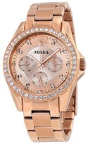 Fossil Riley Multifunction Rose Gold-plated Ladies Watch