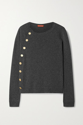 Altuzarra Minamoto Button-embellished Cashmere Sweater - Anthracite