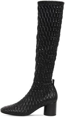 Jil Sander 60mm Stretch Leather Tall Boots