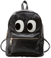Charlotte Russe Flirty Eye Faux Leather Backpack