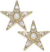 Kate Spade 14k Gold-Plated Imitation Pearl and Pavé Star Stud Earrings