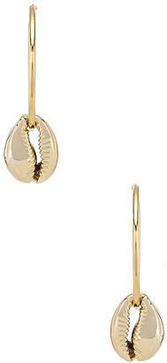 joolz by Martha Calvo Puka Shell Hoop Earrings