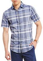 Hart Schaffner Marx Large Plaid Short-Sleeve Shirt