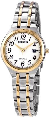 Citizen Women's Eco-Drive White Dial Watch, 28mm