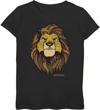 Simba Licensed Character Disney's The Lion King Girls 7-16 Noble Geometric Tee