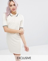 Monki Color Block Polo Mini Dress