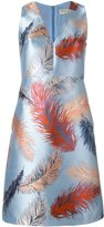 Emilio Pucci feather jacquard dress