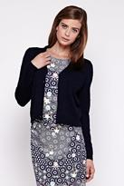 Yumi Stitch V-Neck Cardigan Navy