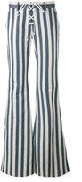 Roberto Cavalli striped flared trousers - women - Cotton/Hemp - 40
