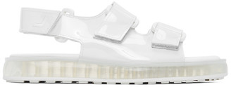 Joshua Sanders White PVC Transparent Sole Sandals