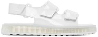 Joshua Sanders White PVC Transparent Sole Sandals