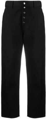 Emporio Armani Wide Leg Cropped Jeans