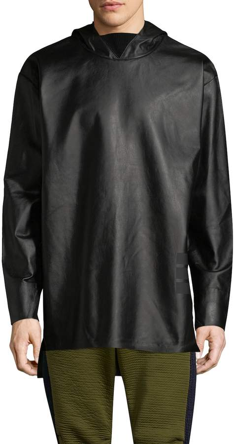 Y-3 Men's Leather Hoody Sweater
