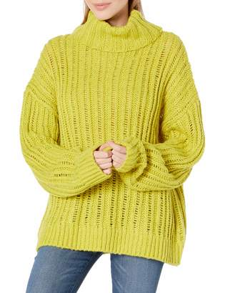 J.o.a. Women's Cable Knit Turtleneck Sweater