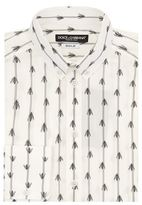 Dolce & Gabbana Striped Bee Print Shirt