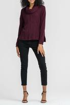Lush Clothing Wine Ribbed Sweater