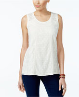 Style&Co. Style & Co Lace Embroidered Top, Only at Macy's