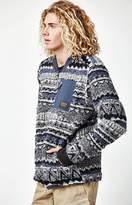 Burton Grove Navy Printed Full-Zip Fleece Jacket