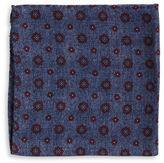 Black Brown 1826 Floral Dot Pocket Square