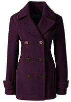 Classic Women's Tall Luxe Wool Peacoat-Medium Gray Heather