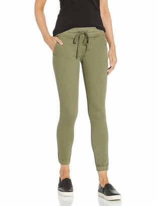 CG JEANS Juniors High Rise Army Jeans Joggers for Women Drawstring Camo - green - 11