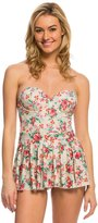 Bettie Page Romance Bandeau Shaped Cup Swim Dress 8137880