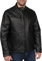 JCPenney R And O Excelled Nappa Leather Racing Jacket-Big & Tall
