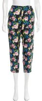 MSGM Silk Floral Pants