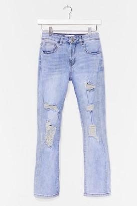 Nasty Gal Womens Rip's Just Got Good Distressed Denim Jeans - Blue