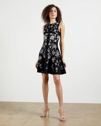 Ted Baker Rhubarb Jacquard Knitted Skater Dress