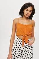 Topshop Knot front cropped camisole top
