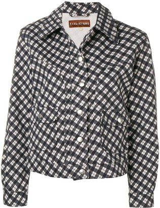 ALEXACHUNG Checked Fitted Jacket