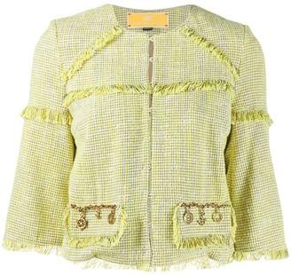 Elisabetta Franchi Fringed Cropped Jacket