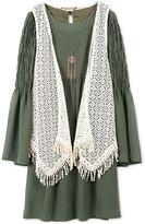 Speechless 2-Pc. Vest, Dress, & Necklace Set, Big Girls (7-16)